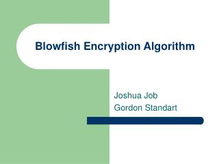 Blowfish Encryption Algorithm