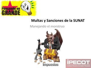 Multas y Sanciones de la SUNAT