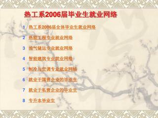 热工系 2006 届毕业生就业网络