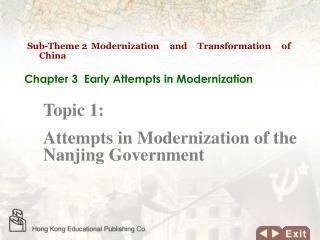 Sub-Theme 2 Modernization and Transformation of China