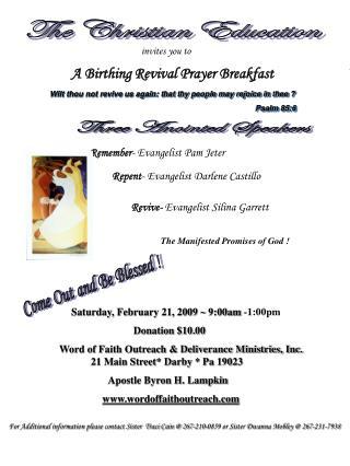 Remember - Evangelist Pam Jeter