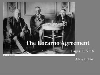 The Locarno Agreement Pages 117-118