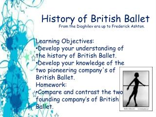 History of British Ballet