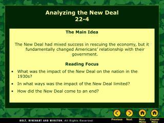 Analyzing the New Deal 22-4