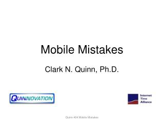 Mobile Mistakes