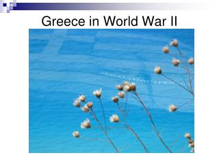 Greece in World War II