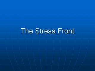 The Stresa Front