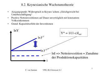 8.2. Keynesianische Wachstumstheorie