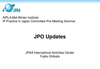 JPO Updates