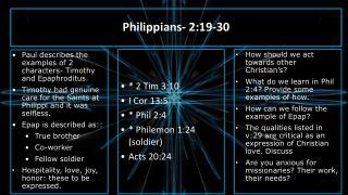 Philippians- 2:19-30
