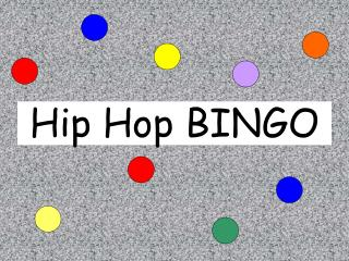 Hip Hop BINGO