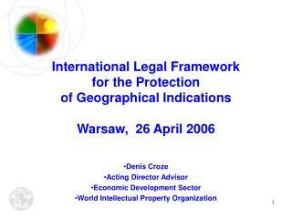 Denis Croze Acting Director Advisor Economic Development Sector