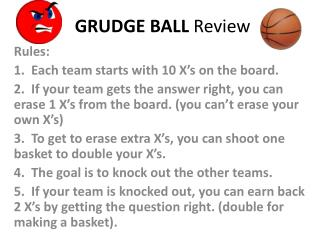 GRUDGE BALL  Review