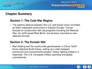 Section 1: The Cold War Begins