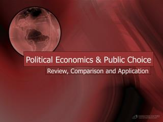 Political Economics & Public Choice
