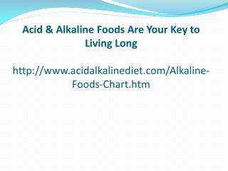 Acid & Alkaline Foods