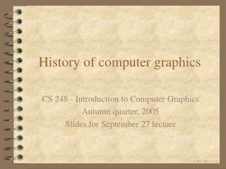 History of computer graphics