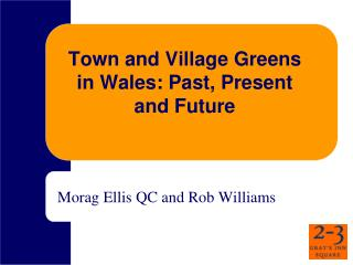 Town and Village Greens in Wales: Past, Present and Future