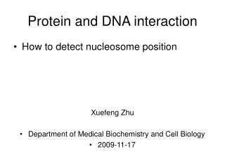 Protein and DNA interaction