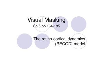 Visual Masking Ch.5 pp.164-185