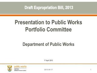 Draft Expropriation Bill, 2013