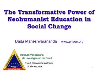 The Transformative Power of Neohumanist Education in Social Change