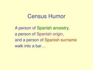 Census Humor