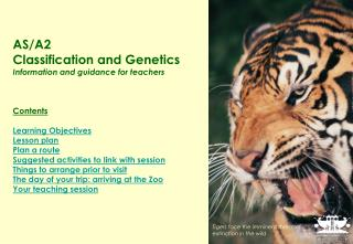 AS/A2 Classification and Genetics Information and guidance for teachers Contents