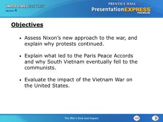 Assess Nixon's new approach to the war, and explain why protests continued.