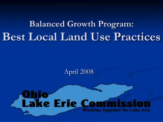 Balanced Growth Program: Best Local Land Use Practices
