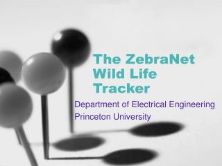 The ZebraNet Wild Life Tracker