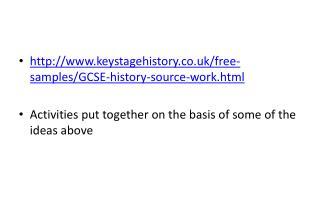 keystagehistory.co.uk/free-samples/GCSE-history-source-work.html