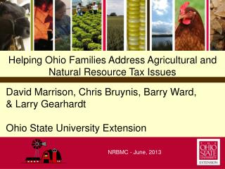 Helping Ohio Families Address Agricultural and Natural Resource Tax Issues
