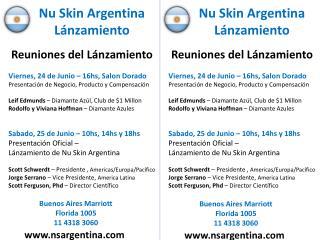 Nu Skin Argentina Lánzamiento