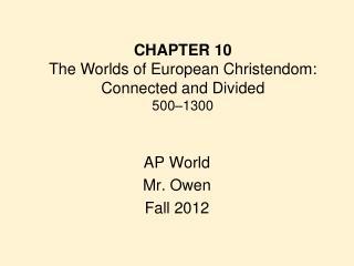AP World Mr. Owen Fall 2012
