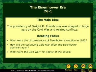 The Eisenhower Era 26-1