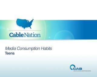Media Consumption Habits Teens