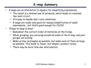 K-map Summary