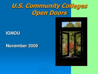 U.S. Community Colleges Open Doors