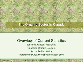The Organic Sector in Canada
