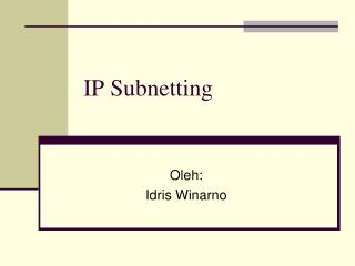 IP Subnetting