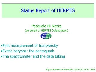 Status Report of HERMES