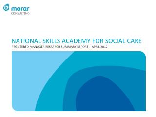 NATIONAL SKILLS ACADEMY FOR SOCIAL CARE