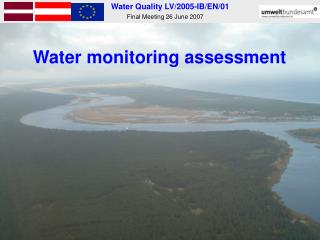 Water monitoring assessment