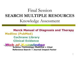 Final Session SEARCH MULTIPLE RESOURCES  Knowledge Assessment
