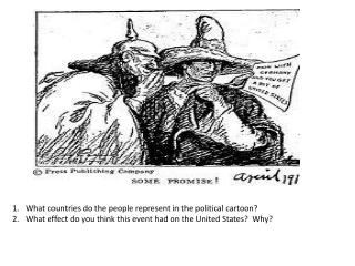What countries do the people represent in the political cartoon?