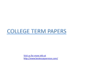 How to write a college term paper