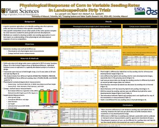 Physiological  Responses of Corn to Variable Seeding  Rates  In  Landscape-Scale Strip Trials