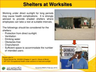 Shelters at Worksites