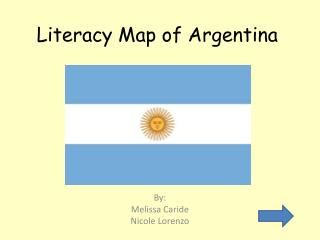 Literacy Map of Argentina